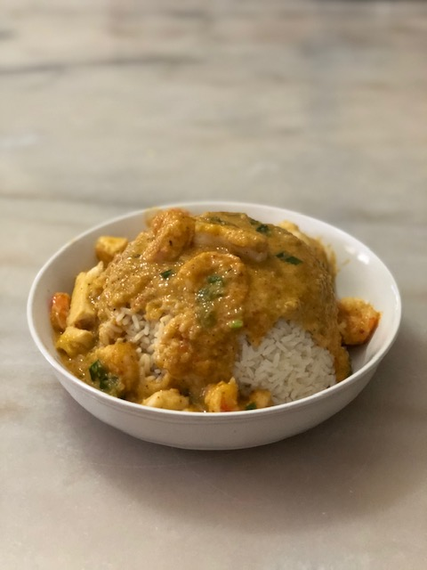 RICE WITH COCONUT CURRY SAUCE